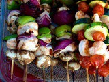 Summer Entertaining with Shrimp & Chicken Kabobs & Heineken Beer