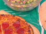The Perfect Game Day Meal – Pizza & Italian Style Green Salad #TeamPizza #ad