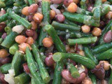 Three Bean Salad in a Tangy Mustard Dressing