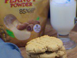 Yummy Peanut Butter Cookies made with Jif Peanut Powder #StartWithJifPowder #ad