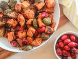 Cinnamon Roasted Brussels Sprouts and Sweet Potatoes
