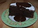 Chocolate and beetroot cake with a hot chocolate fudge Bailey's sauce