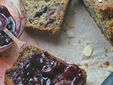 Dairy Free Cherry and Almond Banana Breakfast Bread with Cherry Jam – Almond Breeze