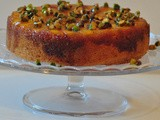 Spiced Vanilla Nectarine Upside Down Cake with Honey Roast Pistachios – Bake Off Challenge
