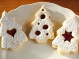 Linzer Christmas Tree Cookies