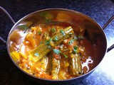 Drumstick vegetable, tomato and onion curry