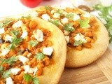 Chicken and Feta Manakish/Arabic Pizza