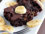 Eggless Moist Banana Brownies