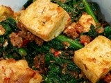 Kailan tofu with dried shrimps