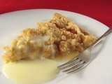 Crumble Topped Apple and Apricot Pie