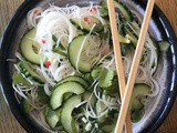 Cucumber and Rice Noodle Salad