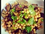 Moroccan Spiced Chickpea and Aubergine Salad