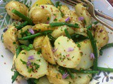 Mustardy potato and green bean salad