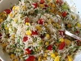 Red, Gold and Green Rice Salad
