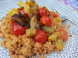 Roasted Vegetables and Couscous with Harissa