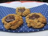 Spiced Oatmeal Cookies with a Chocolate Thumbprint