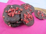 Strawberry and Rose Chocolate Discs