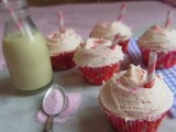 Strawberry Milkshake Cupcakes