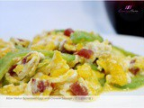 Bitter Melon Scrambled Eggs with Chinese Sausage ( 苦瓜腊肠炒蛋 )