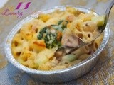 Cheesy Ham and Shrimp Macaroni Au Gratin Recipe