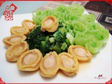 Chinese New Year Abalone Recipe + Vegetable Flower Tips