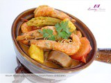 Claypot Nyonya Assam Prawns, a Must-Try Asian Cuisine! 砂煲亚参虾
