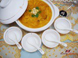Cny Braised Pumpkin Soup with Fish Maw and Scallops (红烧南瓜鱼鳔羹)