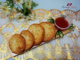 Crispy Thai Prawn Cakes with Sweet Chilli Sauce ( 香脆泰式虾饼 )