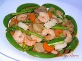 Crunchy Chinese-style Stir-fry Vegetables with Seafood