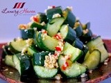 Crunchy Japanese Cucumber Appetizer (蒜泥黄瓜), Great For Entertaining