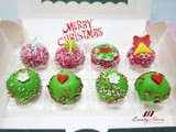 Fruity Christmas Mini Cakes Recipe with Edible Toppers