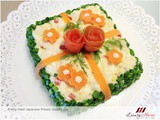 Halal Japanese Potato Salad Cake, a Tasty Eye Candy Recipe