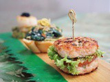 Healthy Mini Chicken Burgers, Perfect Party Appetizers