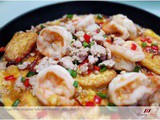Hotplate Tofu with Prawns, Fuss-Free Home Cooking! ( 铁板豆腐虾 )