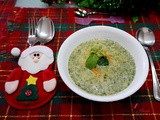 Minty Cream of Broccoli Soup for Christmas ( 薄荷西兰花奶油汤 )