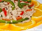 Orange Blossoms Shredded Pork With Capsicums (花开富贵肉丝)