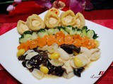 Stir-Fried Baby Abalones with Assorted Vegetables ( 花開富貴鲍鱼仔 )