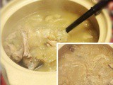 Stone Pot Fish Maw Soup with Snow Fungus, Full Of Collagen