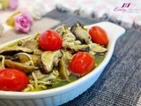 Tantalizing Baked Lemon Pesto Mushrooms Casserole Recipe