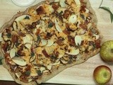 Apple, Gouda and Bacon Pizza
