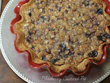 Blueberry Custard Pie with Streusel