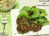 Chewin' Tuesday: Beef Rissoles with Baby Greens