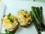 Chicken and Basil Stuffed Twice Baked Potatoes