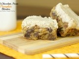 Dark Chocolate Chip Pumpkin Blondies with Brown Butter Frosting