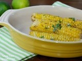 Grilled Corn with Spicy Cilantro Lime Butter