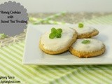 Honey Cookies with Mint Sweet Tea Frosting