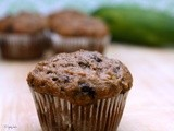 Low Fat Chocolate Zucchini Muffins