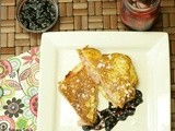 Monte Cristo Sandwiches with Whiskey, Balsamic Blueberry Compote