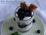 No-Bake Blueberry Cheesecake in a Jar