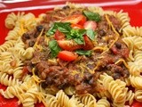 Pasta with Mexican Black Bean Sauce